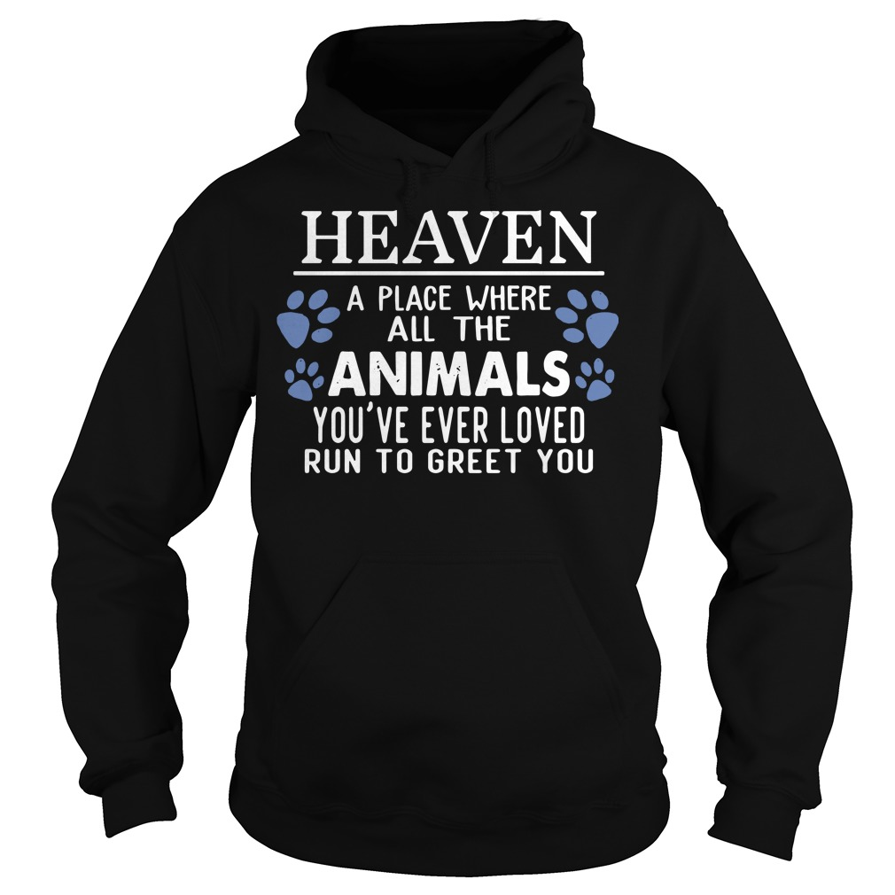 Heaven a place where all the Animals you're ever loved run to greet you hoodie
