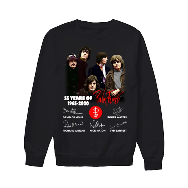 55 years of Pink Floyd 1965 2020 signatures shirt55 years of Pink Floyd 1965 2020 signatures Sweater