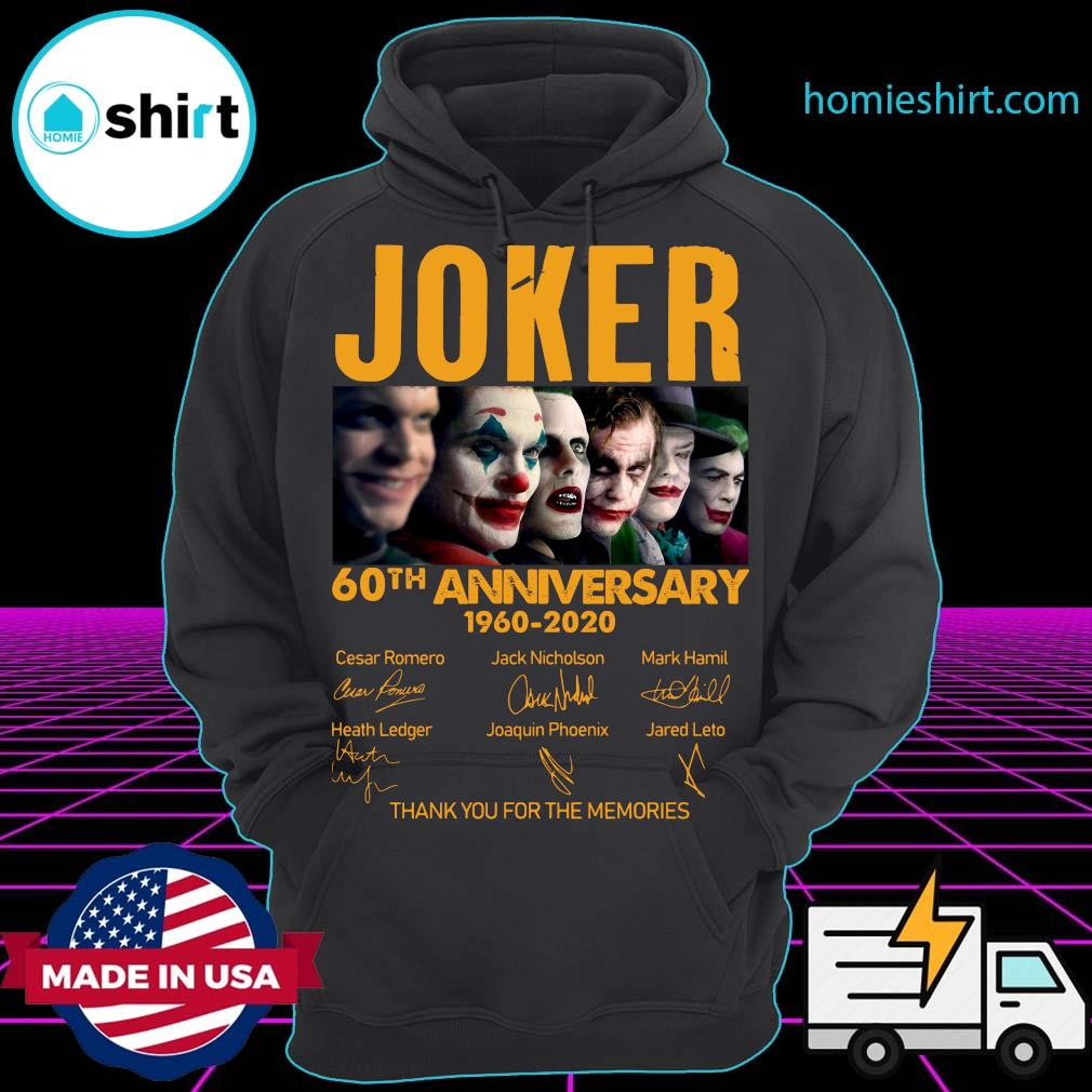 Joker 60th Anniversary 1960 2020 Thank You For The Memories Signatures Shirt Hoodie