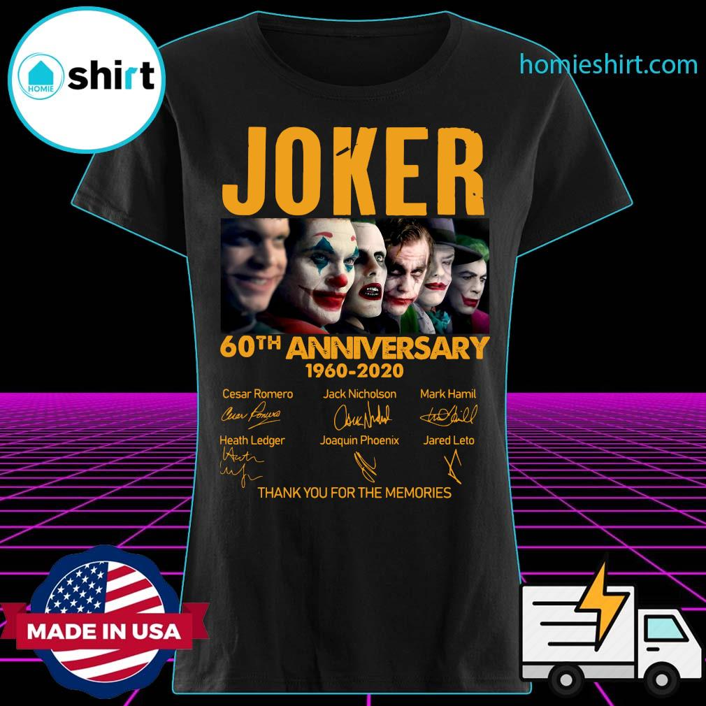 Joker 60th Anniversary 1960 2020 Thank You For The Memories Signatures Shirt Ladies