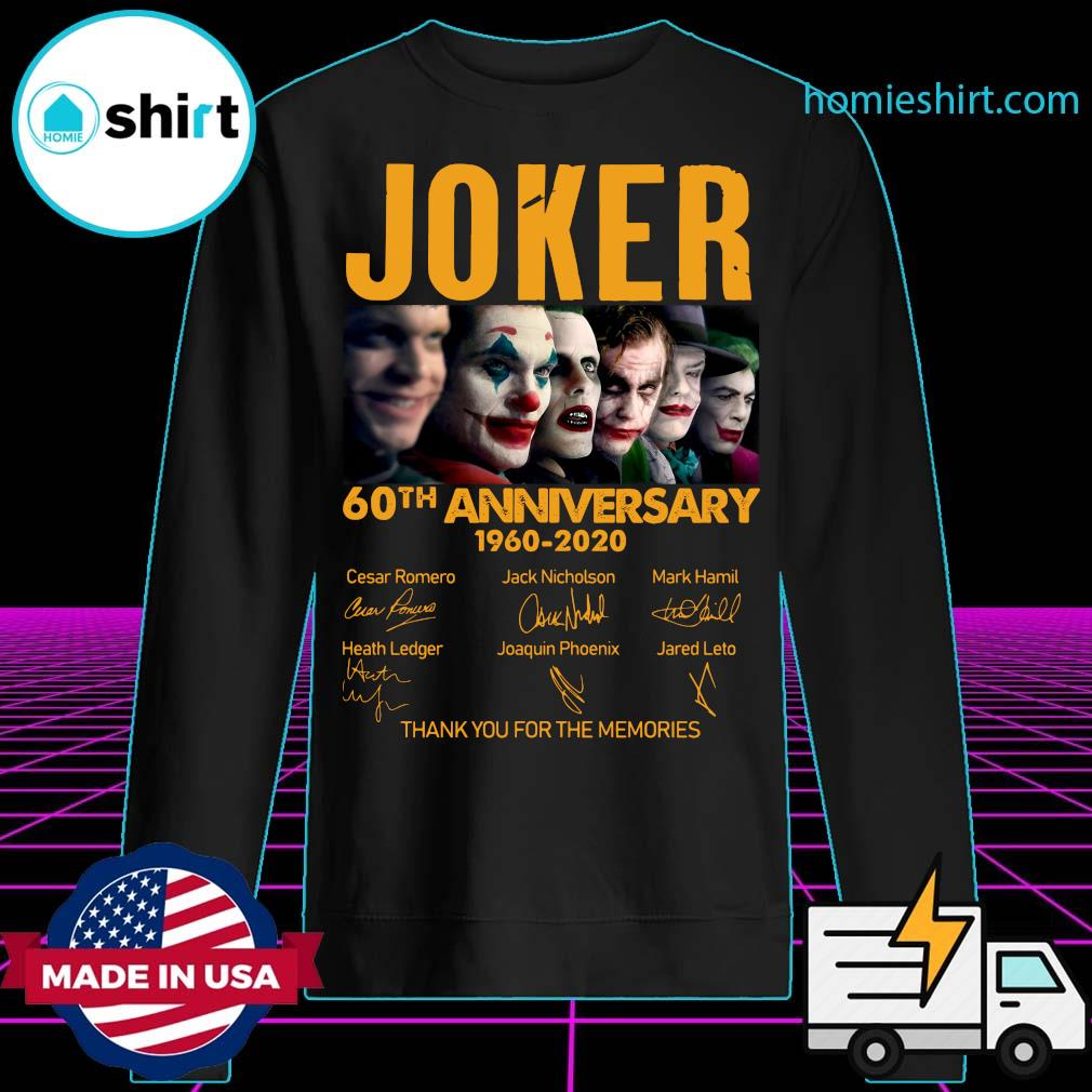 Joker 60th Anniversary 1960 2020 Thank You For The Memories Signatures Shirt Sweater