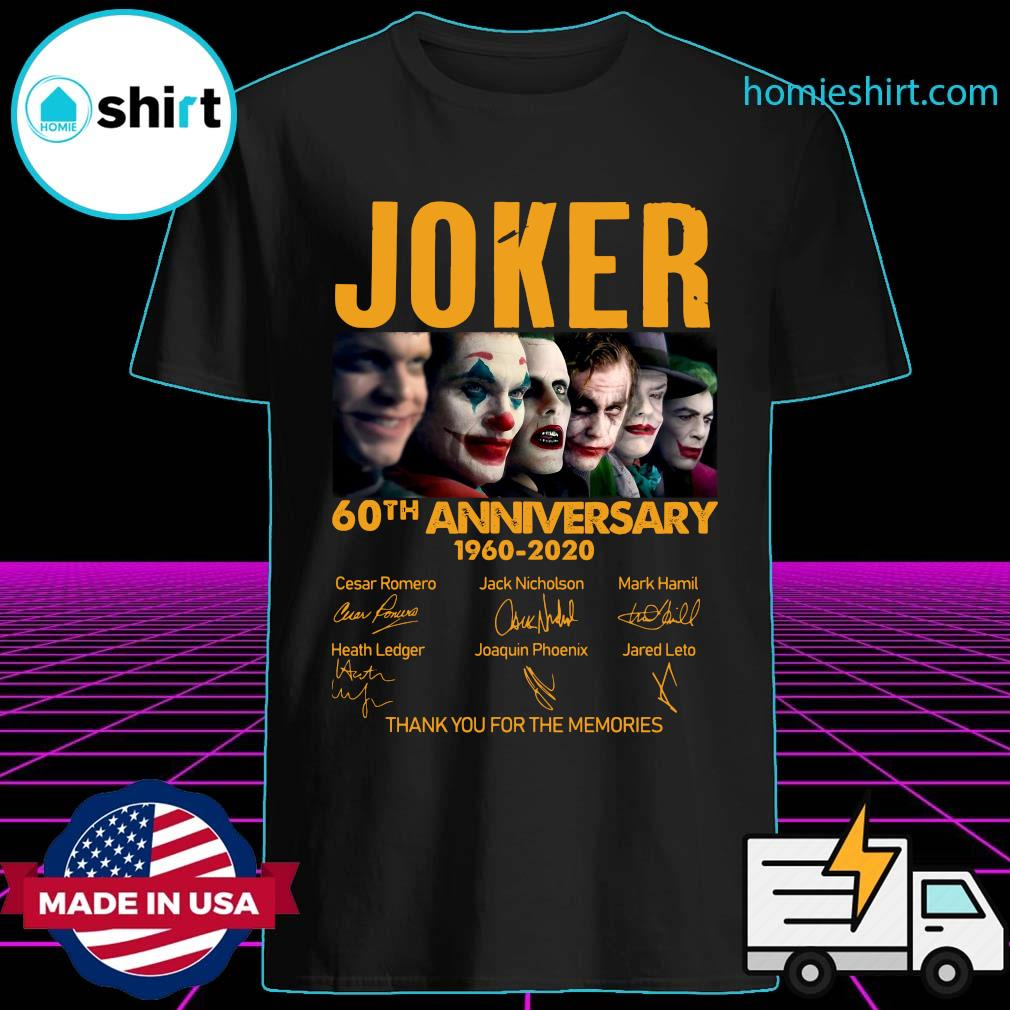 Joker 60th Anniversary 1960 2020 Thank You For The Memories Signatures Shirt