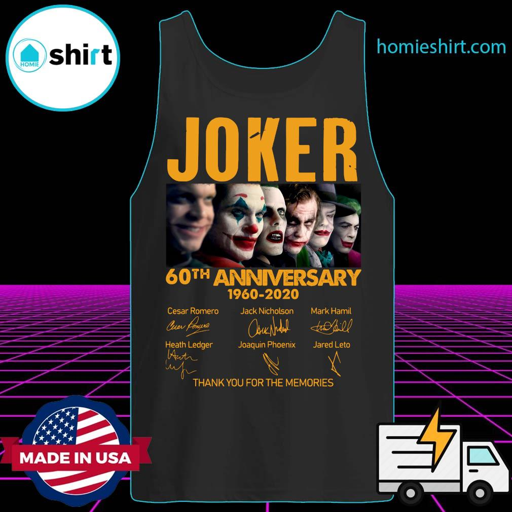 Joker 60th Anniversary 1960 2020 Thank You For The Memories Signatures Shirt Tank-Top