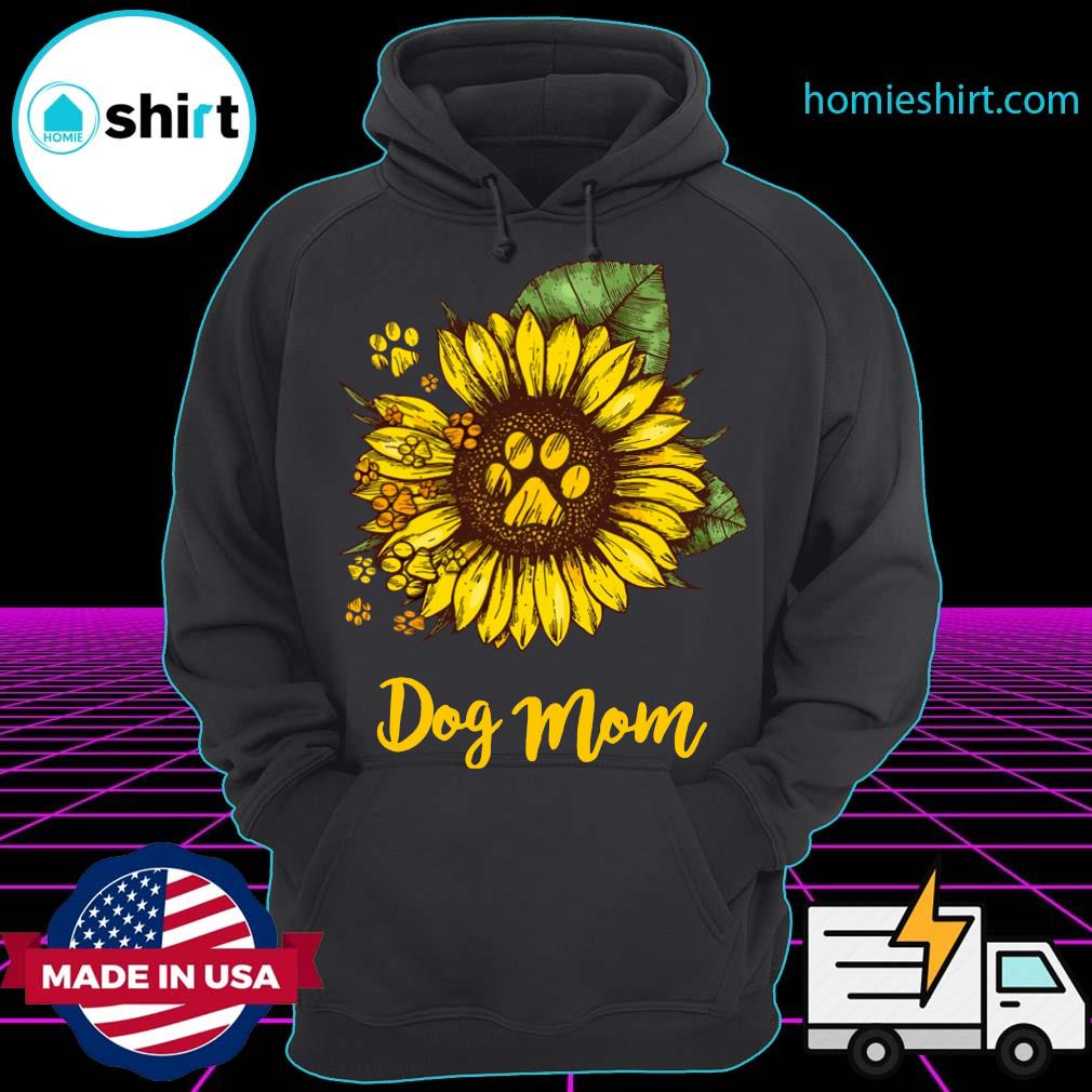 Sunflower Dog Mom Shirt Hoodie