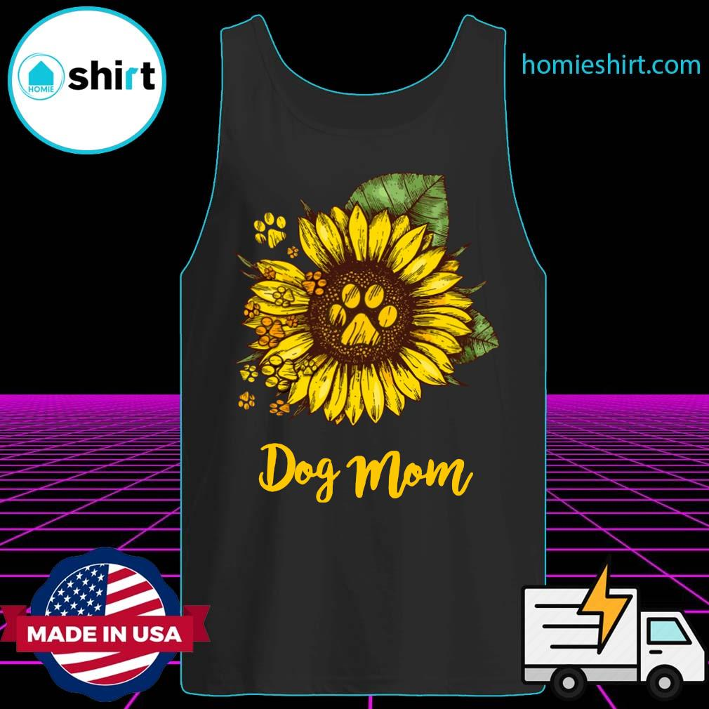Sunflower Dog Mom Shirt Tank-Top