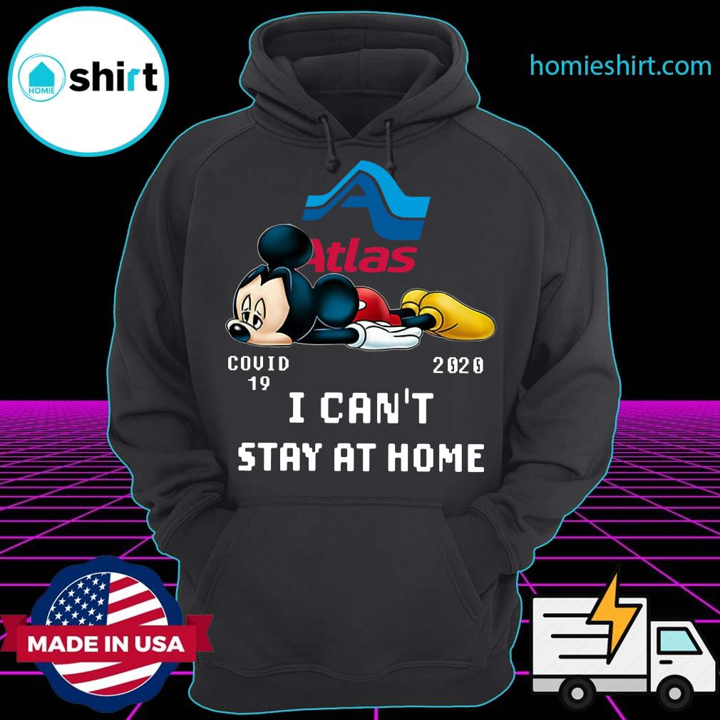 Atlas Van Lines Mickey Mouse Covid 19 2020 I can't stay at home s Hoodie