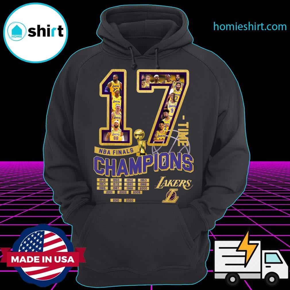 17 Nba Finals Time Champions Los Angeles Lakers Shirt Hoodie