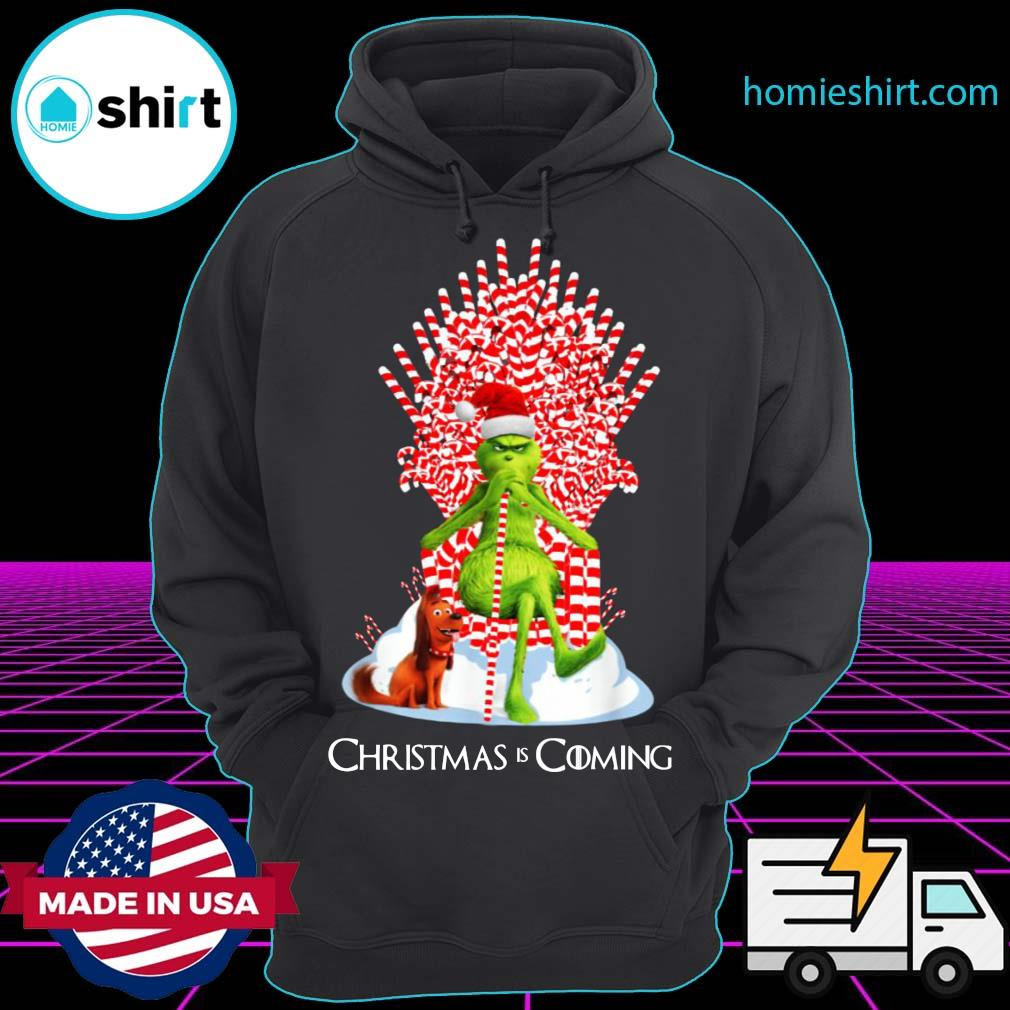 Candy Stick Throne The Grinch And Max Christmas Is Coming Sweats Hoodie