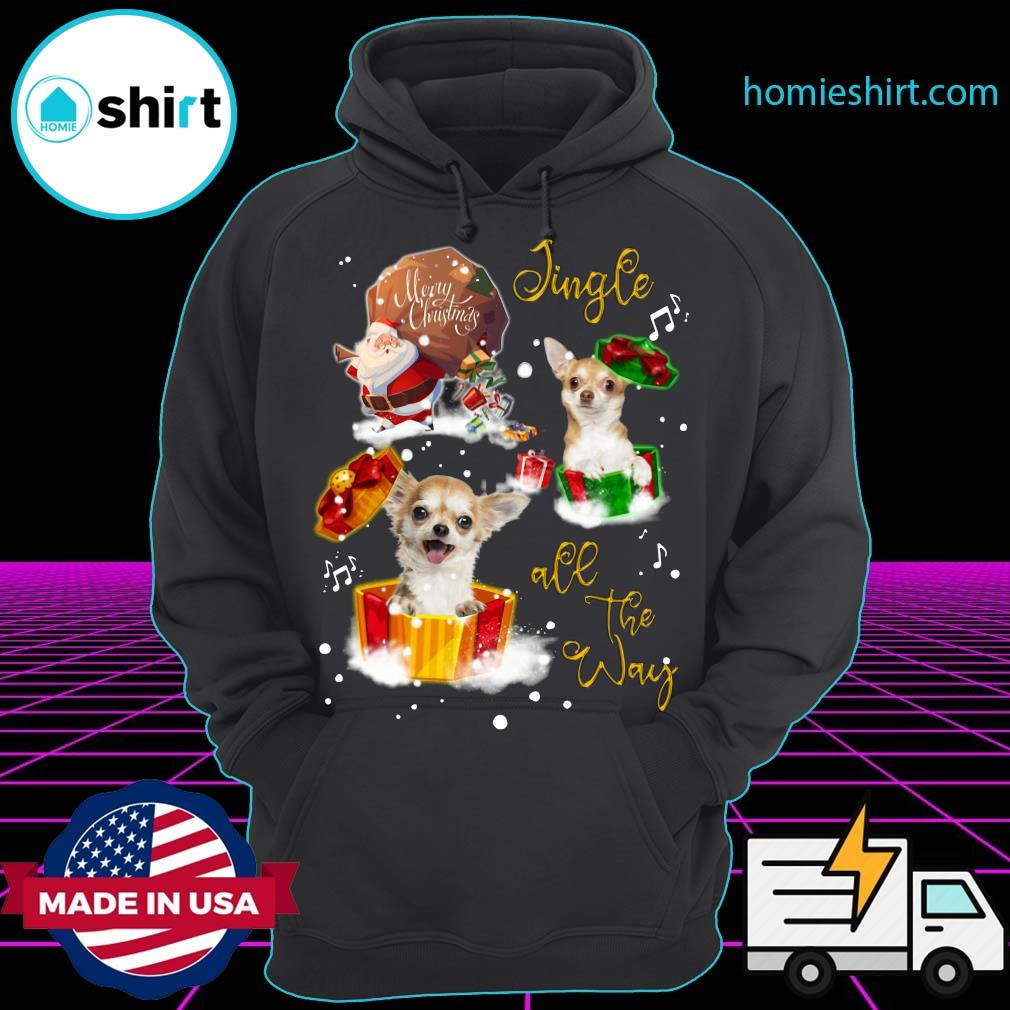 Chihuahua Merry Christmas Jingle All The Way Sweats Hoodie