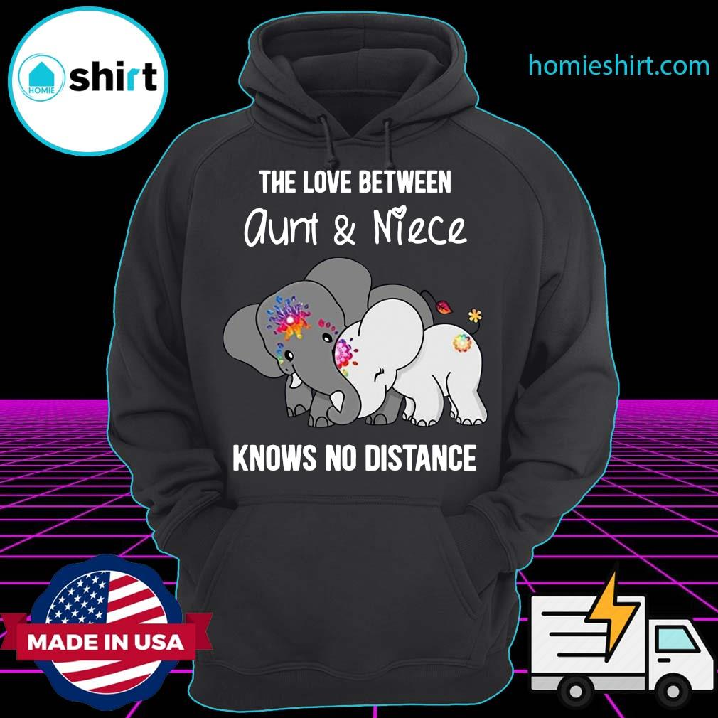 Elephant The Love Between Aunt And Niece Knows No Distance Shirt Hoodie