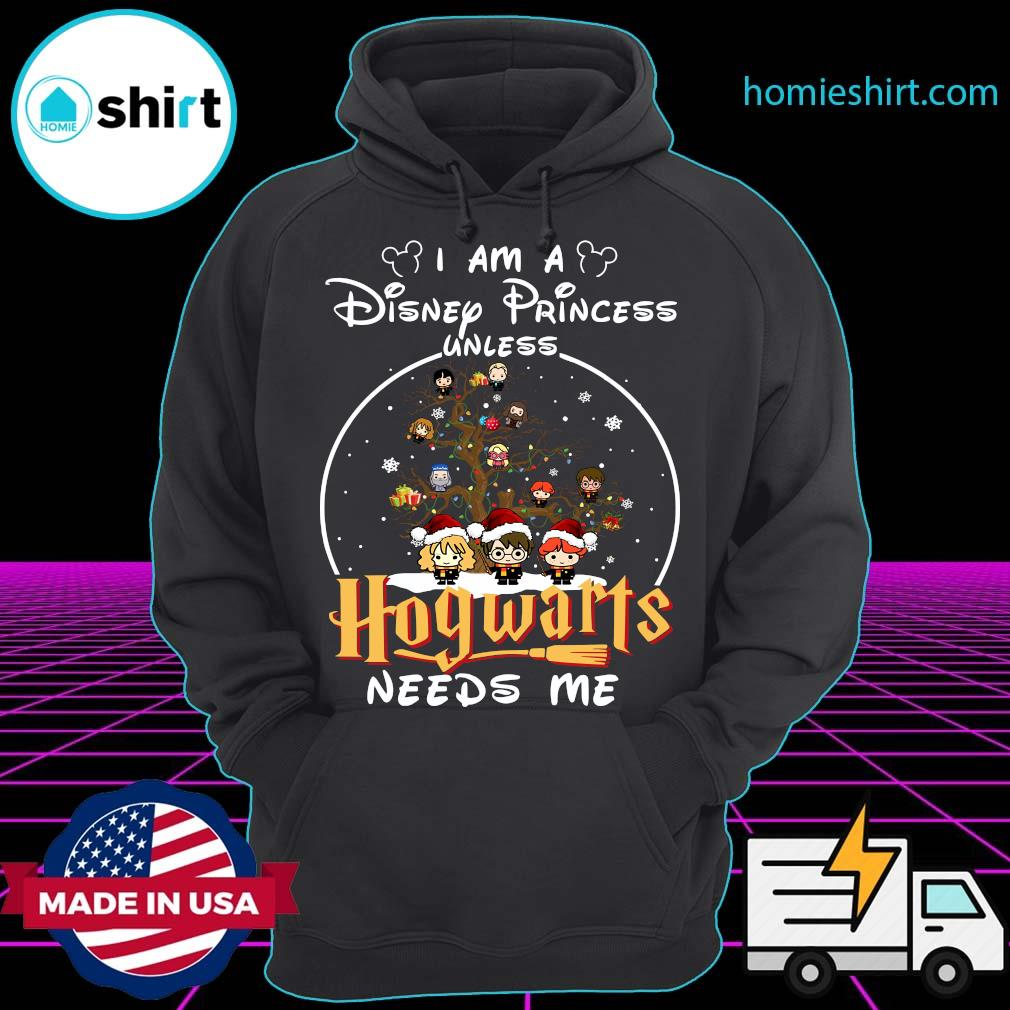Merry Christmas I Am A Disney Princess Unless Hogwarts Needs Me Harry Potter Shirt Hoodie
