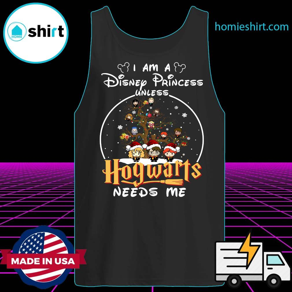 Merry Christmas I Am A Disney Princess Unless Hogwarts Needs Me Harry Potter Shirt Tank-Top