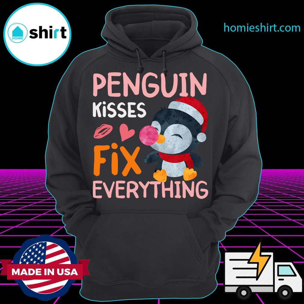 Penguin Kisses Fix Everything Christmas Shirt Hoodie