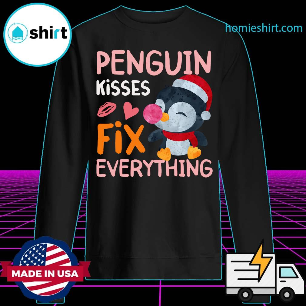Penguin Kisses Fix Everything Christmas Shirt Sweater