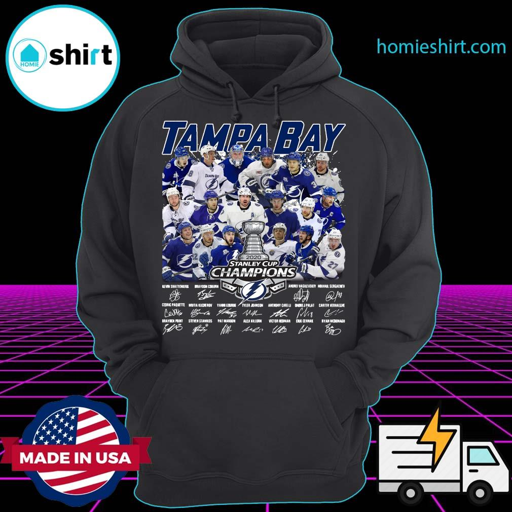 Tampa Bay 2020 Stanley Cup Champions Players Signatures Shirt Hoodie