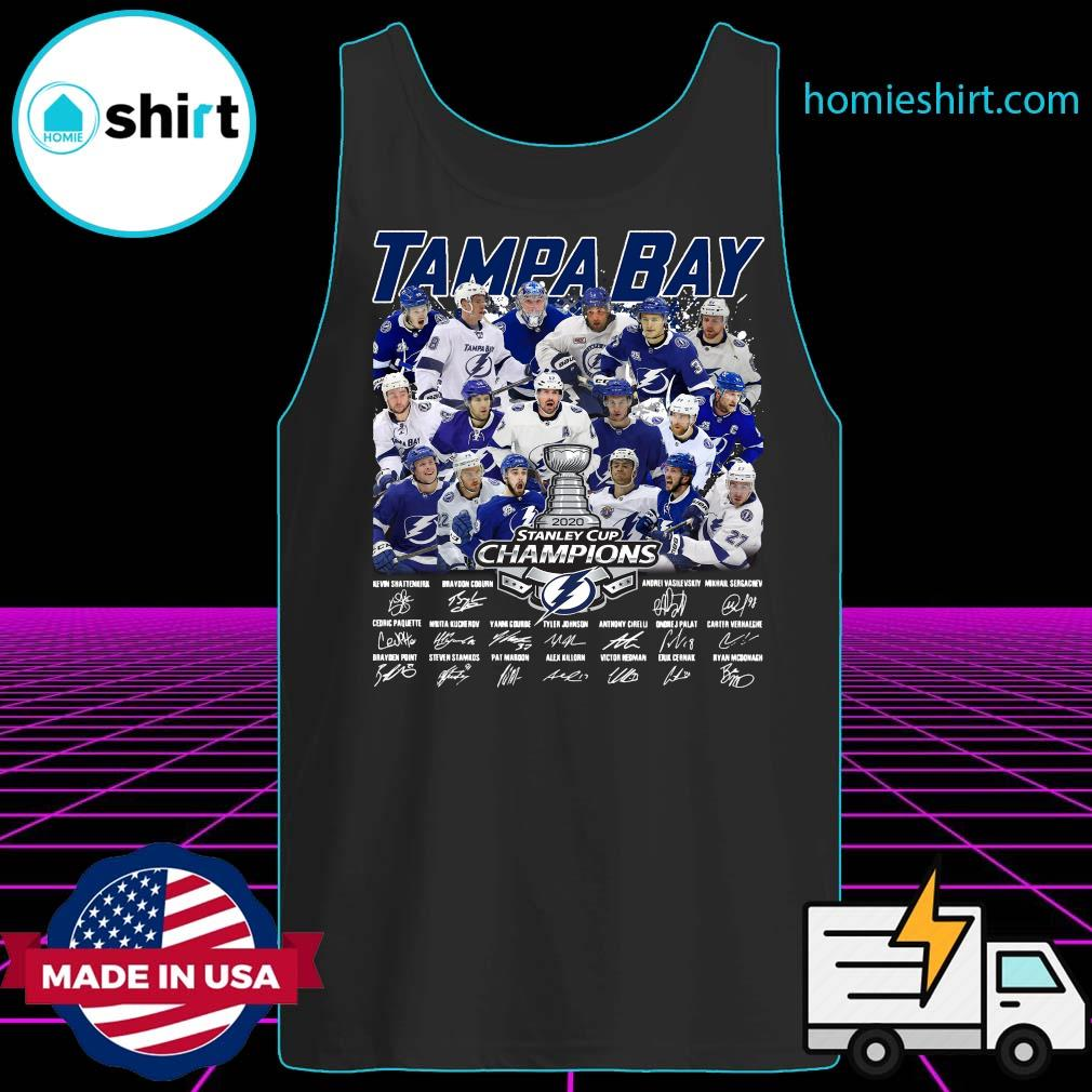 Tampa Bay 2020 Stanley Cup Champions Players Signatures Shirt Tank-Top