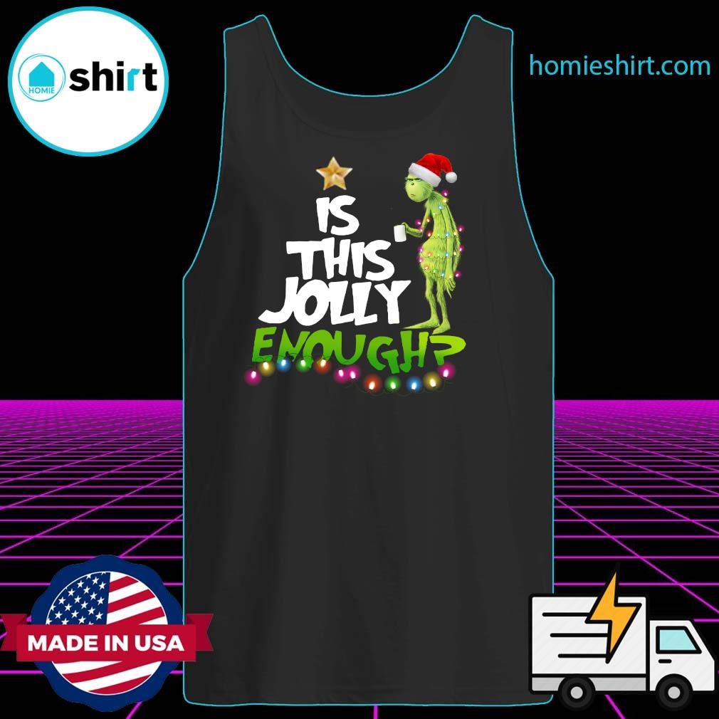 The Grinch Is Jolly Enough Christmas Sweats Tank-Top