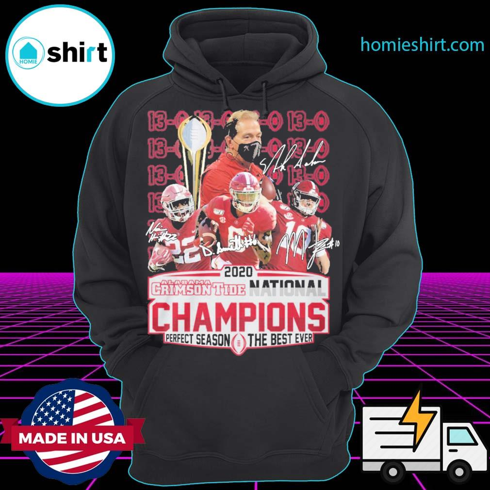 2020 Alabama Crimson Tide National Champions perfect season the best ever s Hoodie