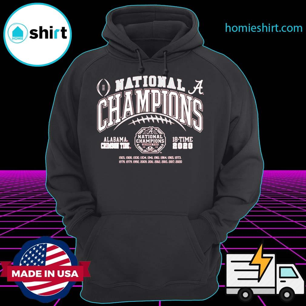 Alabama Crimson Tide National Champs 2020-2021 T-Shirt Hoodie