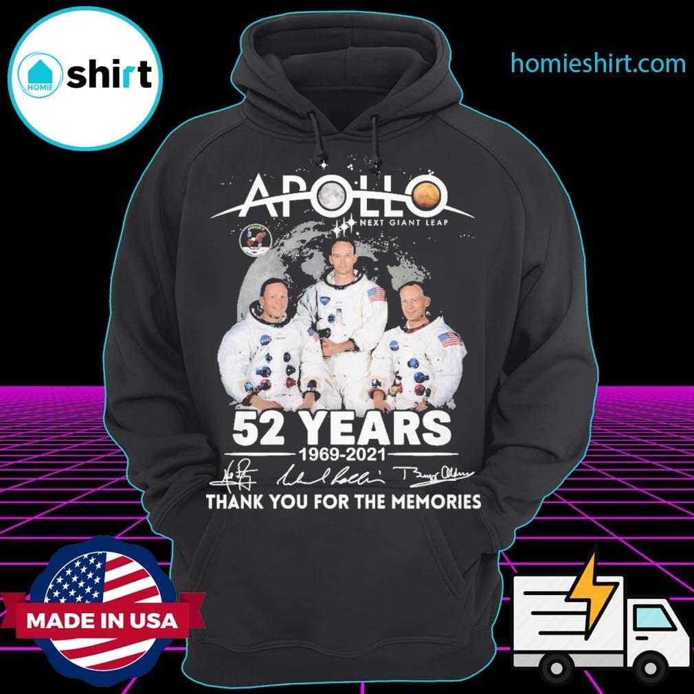 Apollo next giant leap 52 years 1969 2021 signatures thank you for the memories s Hoodie