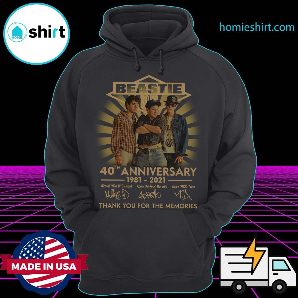 Beastie Boys 40th Anniversary 1981 2021 Thank You For The Memories Signatures Shirt Hoodie