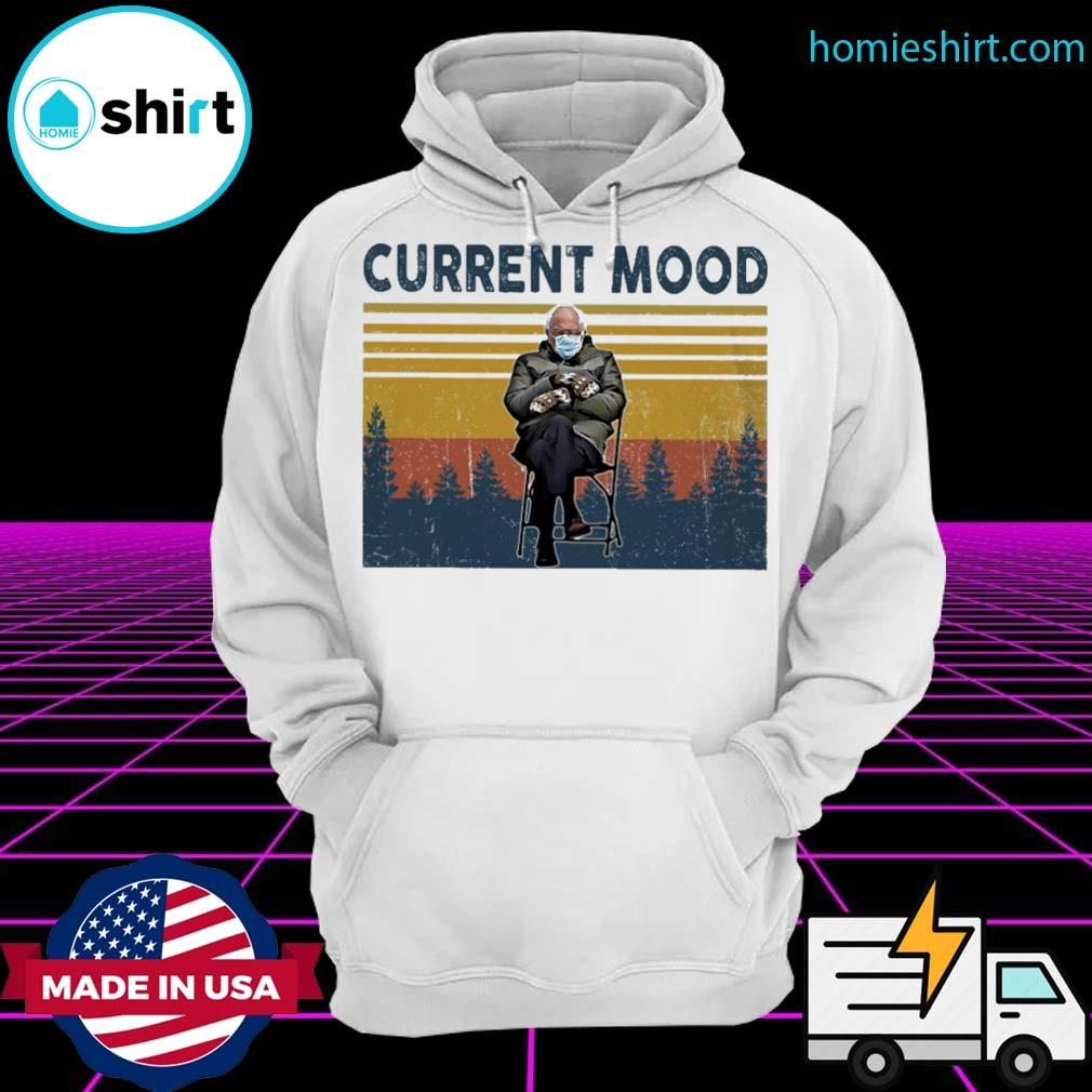 Bernie Sanders sits alone with his mittens at inauguration current mood vintage s Hoodie