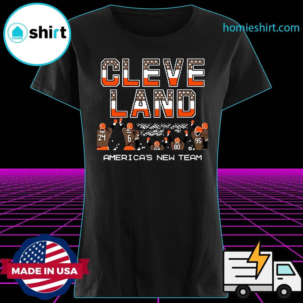 Cleveland Browns America's New Team Shirt Ladies