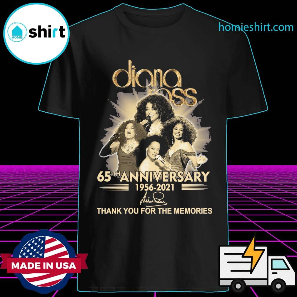 Diana Ross 65th anniversary 1956 2021 signature thank you for the memories shirt