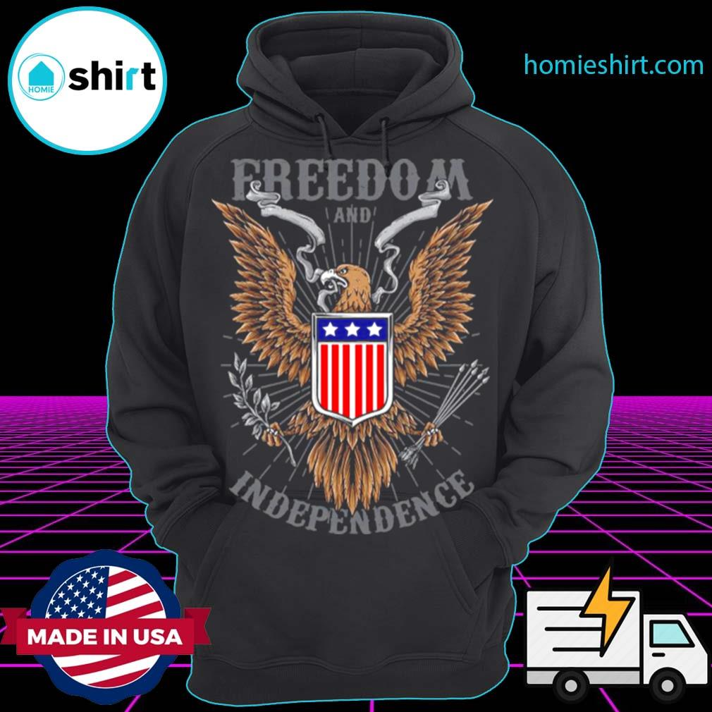 Freedom And Independence Eagle American Flag s Hoodie