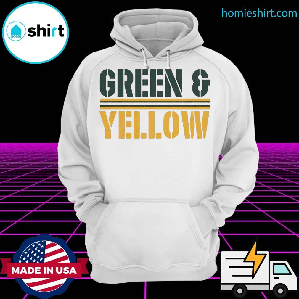 Green and yellow Green Bay football s Hoodie