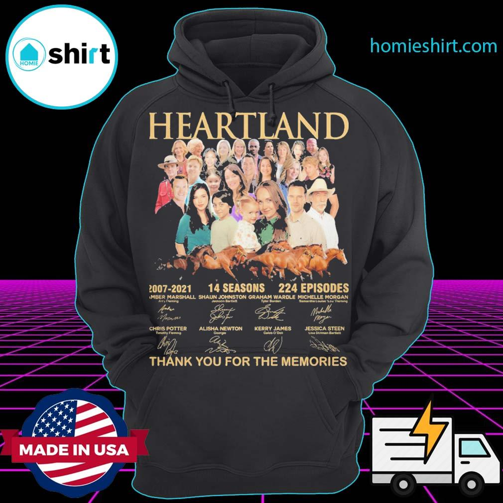 Heartland 2007 2021 14 seasons 224 episodes signatures thank you for the memories s Hoodie