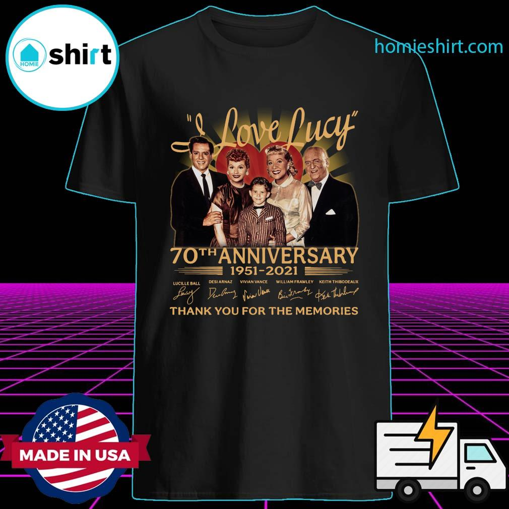 I Love Lucy 80th Anniversary 1951 2021 Thank You For The Memories Signatures Shirt