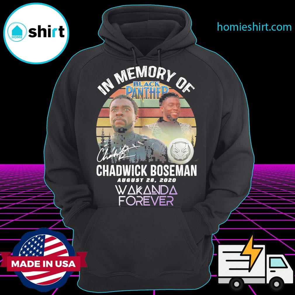 In memory of Black Panther Chadwick Boseman August 28 2020 signature Wakanda Forever vintage s Hoodie