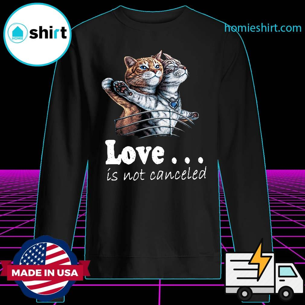 Love Is Not Canceled Titanic Cat Shirt Sweater