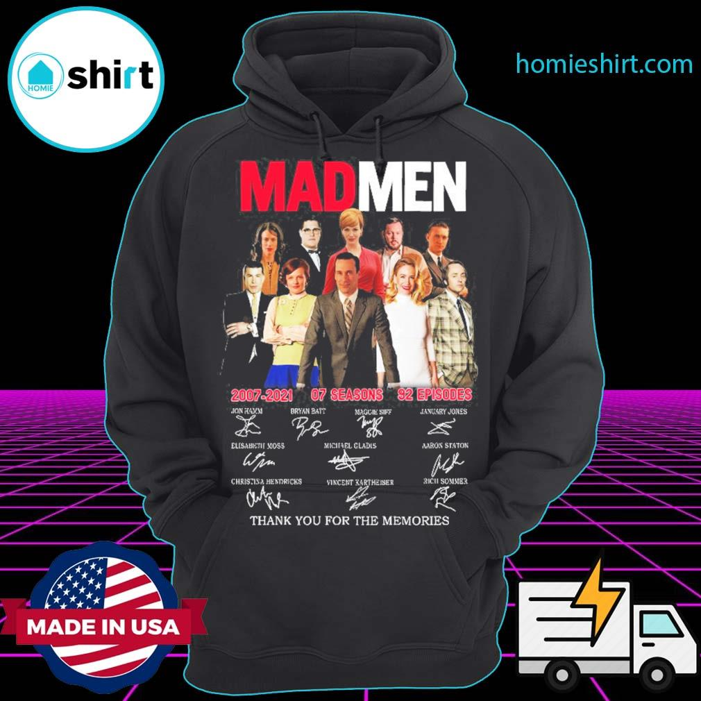 Mad Men 2007 2021 07 seasons 92 episodes signatures thank you for the memories s Hoodie