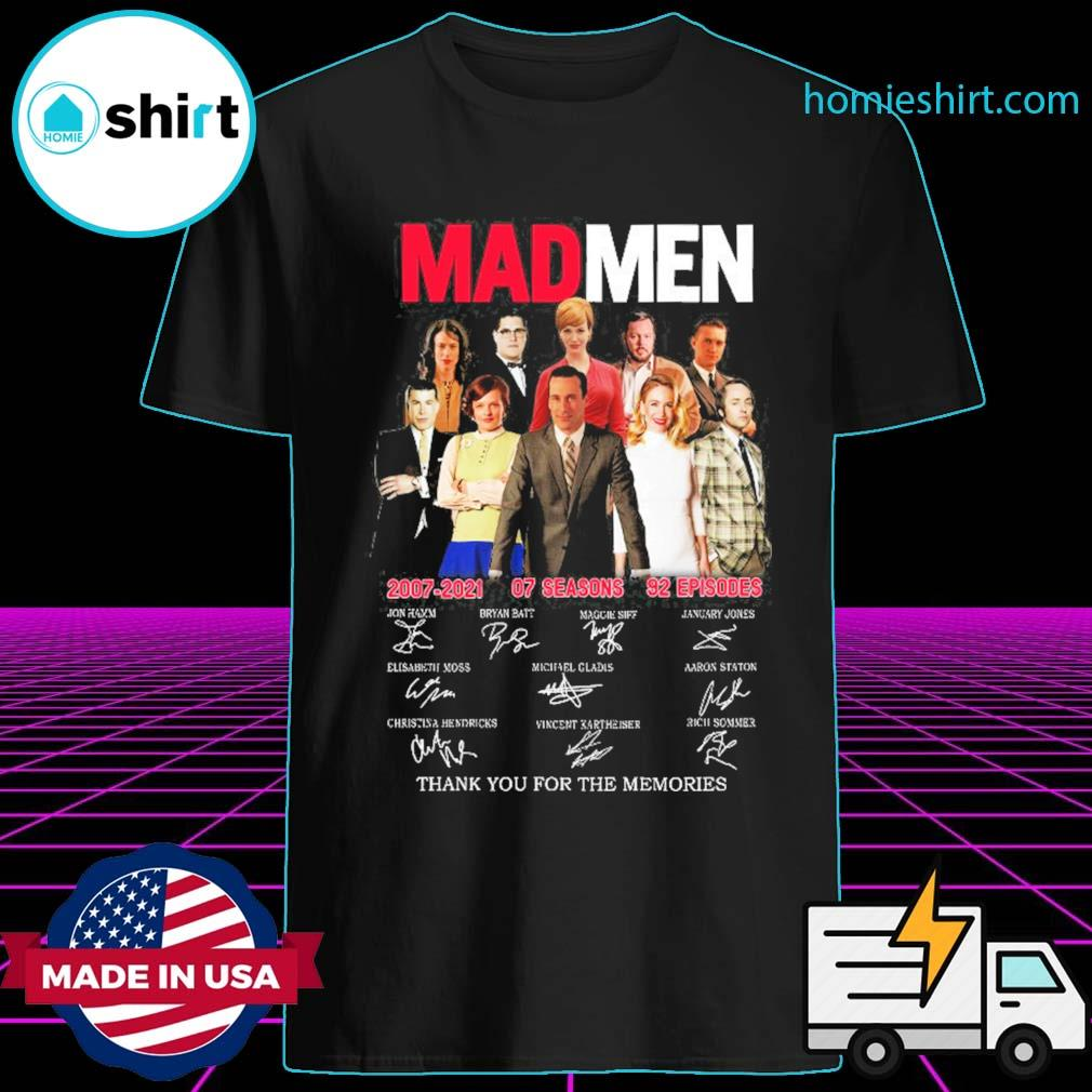 Mad Men 2007 2021 07 seasons 92 episodes signatures thank you for the memories shirt