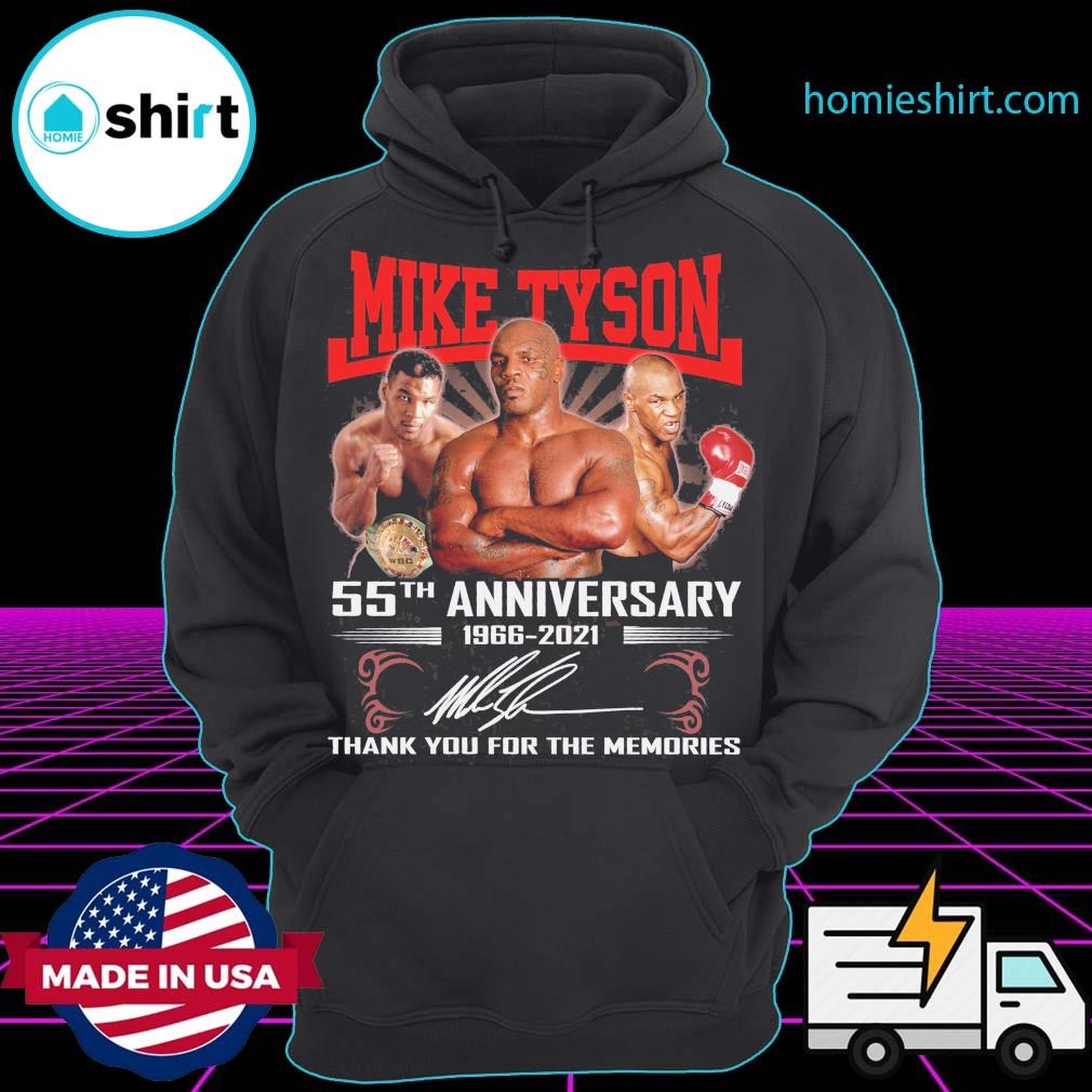 Mike Tyson 55th anniversary 1966 2021 signature thank you for the memories s Hoodie