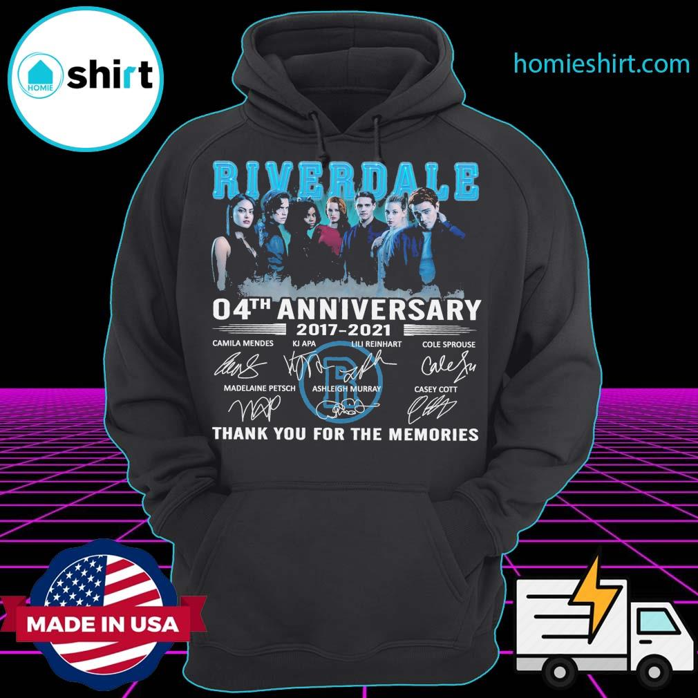 Riverdale 04th anniversary 2017 2021 signatures thank you for the memories s Hoodie