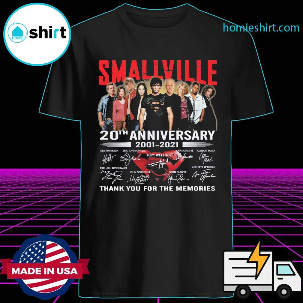 Smallville Tv series 20th Anniversary 2001 2021 signatures thank you for the memories shirt